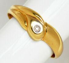 Damenring Schlangenring 18 Karat 750 Gold 1,55 g Gelbgold Brillant Solitär Gr 54