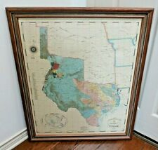 Large Commemorative 1845 Map of The Republic of Texas Professionally Framed