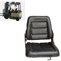 Black Forklift Seat Multi Adjustable Leather-Bobcat/Tractor/Excavator/Machinery