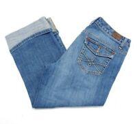 Tommy Hilfiger Spirit Stretch Crop Capri Flap Pocket Jeans Womens Size 10 x 22