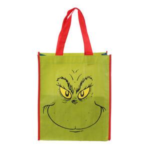 Dr. Seuss Recycled Shopping Tote Bag, Grinch Christmas Reusable Children Shopper