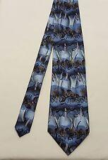 """Vintage Men's Jerry Garcia Ken Nordine Collection 28 Blue Silk Tie Necktie 57.5"""""""