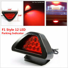 F1 Style 12 LED Rear Tail Brake Stop Light 3rd Red Strobe Fog Indicator   Bumper