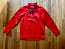 Brand New With Tags Nike Mens Red 1/4 Zip Dri-Fit Golf Pull Over Size Medium