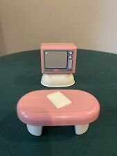 Little Tikes Dollhouse Size Tv And Coffee Table