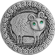 Aries UNC Silver Coin 20 rubles Belarus 2009