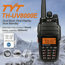 TYT UV8000E 10W HP Cross Band 3600mAh 128*2CH V/U Dual Band Walkie Talkies Radio