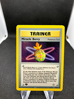 Miracle Berry 94/111 1st Edition Neo Genesis Uncommon Trainer Pokemon Card TCG