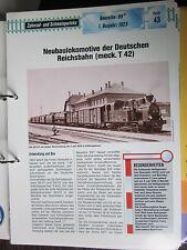 Eisenbahn Dampflok Archiv Datenblatt Z43: Meck. T 42 Nachbau BR 99.31 DR  900mm