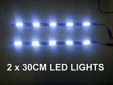 2 x 30CM SMD STRIP 6000K LED DAYTIME RUNNING LIGHT DRL FORD ESCORT MONDEO GALAXY
