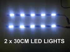 2 x 30cm SMD Striscia 6000K LED Marcia Diurna Luce Drl FORD ESCORT MONDEO GALAXY
