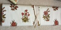 Pottery Barn Bouquet Floral Table Runner 18x108 Off White Ivory New