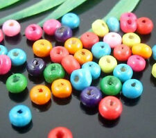 400pcs Mixed Wood Spacer Bead 4x3mm