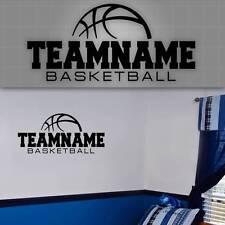 "Personalized Basketball Team Wall Decal, Girls Boys Basketball Wall Sticker 48"""