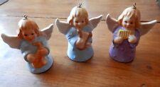 3 Angel Bells Goebel Reed Pipes Purple 1983 Saxophone Blue 1980 Harp Blue 1978