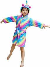 Rainbow Galaxy Unicorn Bathrobe,Toddler Kids Animal, Rainbow Galaxy, Size 0.0 eT