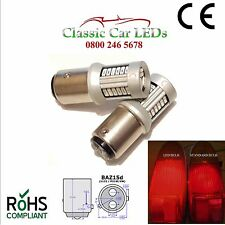 2x Positive Earth baz15d Rosso Stop/Tail Luce LED Posteriori Dei Freni glb566 p21/4w 1122