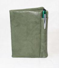 Tür Ausweis mit Tür Stift Echtes Leder Grün Englisch Mann Frau