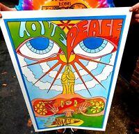 Vintage NOS Original Early 1970's Mother Of Life Hippie Poster Dayton Ohio love