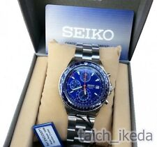 Official Seiko Flightmaster Mens Chronograph Bracelet Watch SND255P1 from Japan