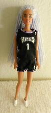 Sacramento Kings NBA Basketball Mattel Barbie Doll With Authentic Uniform