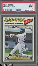 1977 Topps #345 Reggie Smith Los Angeles Dodgers PSA 9 MINT