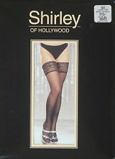 Shirley of Hollywood Lace Top Stay-Up White Stockings Size Large