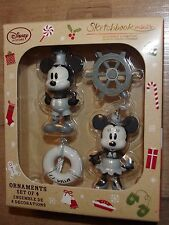 Disney Store Mickey and Minnie Mouse Steamboat Willie Christmas Decorations tree