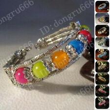 Único hermosa hecha a mano Tíbet tibetano Plata Pulsera Brazalete De Estilo - 9