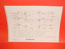 1962 DODGE LANCER 170 770 GT HARDTOP COUPE SEDAN WAGON FRAME DIMENSION CHART