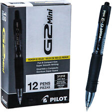 Pilot G2 Mini 31210 Black Gel Ink 0.7mm Fine Point Rollerball Pen Box of 12 Pens