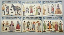 Hollywood Dollies Paper Dolls Tom Mix Valentino Norma Shearer Set of 6 Shackman
