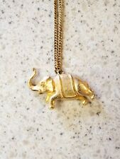 24 Inch Chain Golden Elephant Pendant