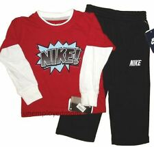 Nike Shirt Pants Boys Sport Active Athletic Winter Wear Top Bottom Long Baby