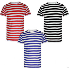 CHILDS STRIPED FANCY DRESS T SHIRTS HALLOWEEN PARTY BOOK DAY WEEK KIDS CHILDREN