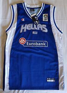 Greece 2006 FIBA World Championship basketball jersey, Champion, Size L, BNWT, b