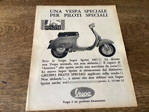 Original Werbung Vespa SS Super Sprint 50 90 1967