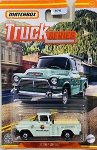 Matchbox '57 GMC Stepside Green 2021 New Release Truck Series