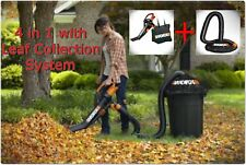 4 in 1 WORX Trivac Blower Mulcher & Vacuum With Leaf Pro Collection System VAC