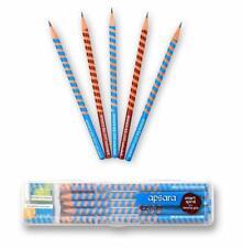 Apsara EZ Grip Extra Dark Spiral Wooden Pencils Free Eraser&Sharpener 10 Pencils