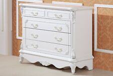 Devonport French Provincial  shabby chic 5 chest of drawers/ lowboy/ dresser