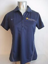 Blue Nike Golf Dri Fit Performance Polo Shirt Womans Miller Coors Brewery
