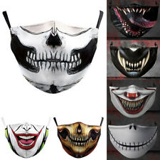 Halloween Skull bike Motorcycle Face Mask Reusable Washable Protection Cover USA