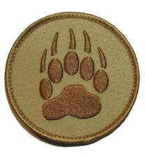 BEAR CLAW K9 DOG TRACKER US MILITARY USA DESERT VELCRO® BRAND FASTENER PATCH