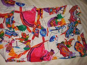 Jams World S NEW NWT wom drawstring  BEACH PANT Scrubs Cinco de Mayo Mexico $93
