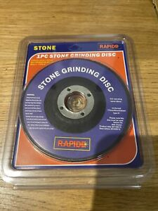 """RAPIDE Stone Grinding Disc 125mm 5"""" x 6mm Thick 22 Mm Bore Disk Type 27"""
