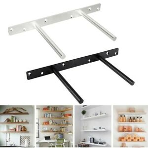 White Black Floating Shelf Bracket Blind Shelf Supports Brackets High Quality