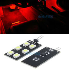 4Pcs Error Free F&R Red Footwell Lights 6SMD LED For Audi A4 S4 B8 2008-2015