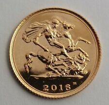 2016 Gold Half Sovereign Coin in Capsule.