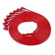 RED  8.5mm Silicone Universal 90 Degree Spark Plug Wire Set 8 Cyl Sprial Core